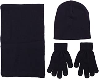 Simplicity Unisex Adult Child Winter Wholesale Ski Beanie Scarf Gloves Set