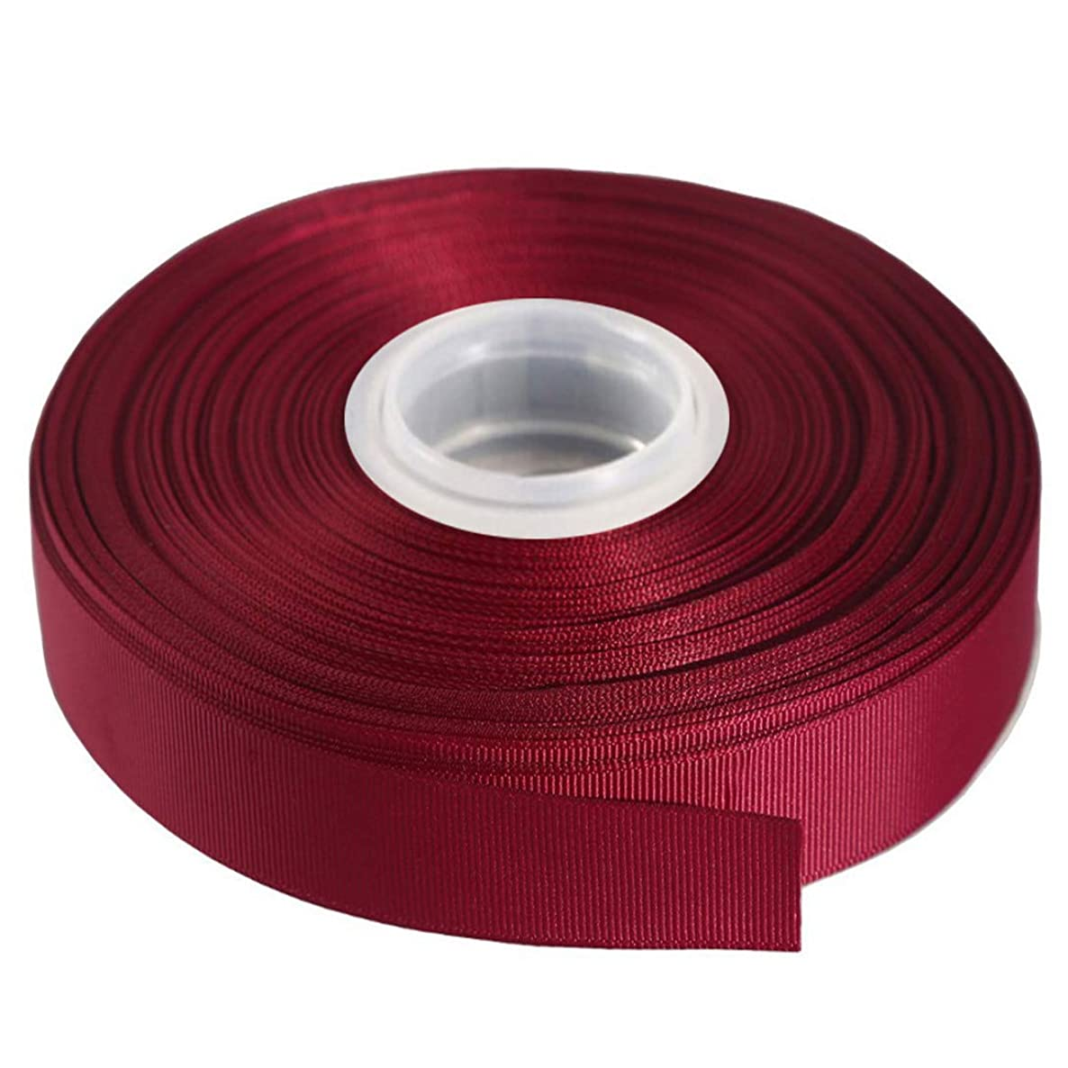 Kailin 3/4 inch Wide Grosgrain Ribbon 25 Yards Roll Multiple Colors Wine