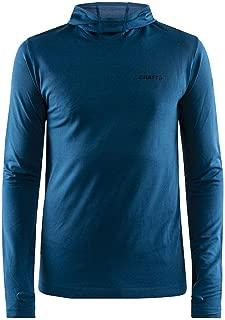 Craft Sportswear Men's Core Fuseknit Hooded Athleisure Wicking Sport Long Sleeve Shirt