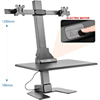 Halter Automatic Up & Down Standing Desk & Dual Monitor Mount