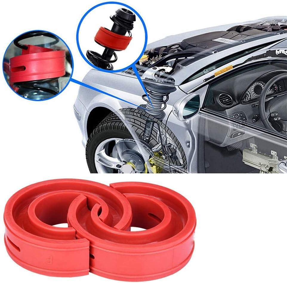 A KIMISS 2teiliger roter Auto Sto/ßd/ämpfer rot Universal Pufferfeder Sto/ßd/ämpferkissen Typ A-F