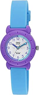 Q&Q Kids White Dial Fiber Band Watch - VP81J018Y