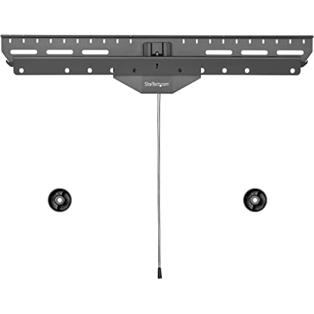 StarTech.com No-Stud TV Wall Mount - Low Profile Heavy Duty VESA TV Wall Mount for up to 80 inch Display (110lb/50kg) - Universal Television Wall Mount - Studless Tilting Flat Screen Mount (FPWHANGER)
