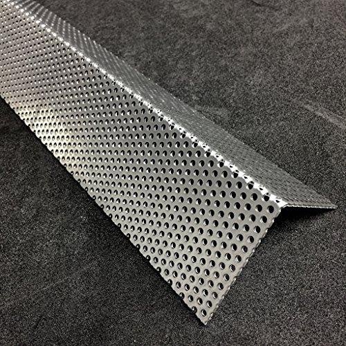 Lochblech Alu Winkel RV3-5 Winkelprofil 1,5mm Länge 1000mm, Individuell nach Maß (Schenkel: 200mm x 100mm)
