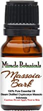 Miracle Botanicals Massoia Bark Essential Oil - 100% Pure Cryptocaryo Massoio - Therapeutic Grade - 10ml