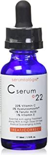 Best C Serum for Face 22 Max Anti-Ageing| Moisturiser | Anti-Wrinkle | 5 Hyaluronic Acid | 1 Vitamin E | 1 Ferulic Acid Combine to Form the Most POTENT Daily Age Defying Treatment Available