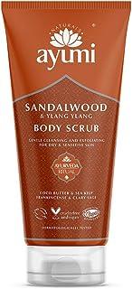 Ayumi Sandalwood & Ylang Ylang Body Scrub. Vegan, Cruelty-Free, Dermatologically-Tested, 1 x 200ml