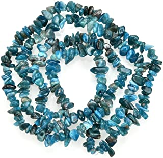 1 Strand Natural Blue Apatite Gemstone Smooth Free Form 5-8mm Loose Stone Chip Beads 33 Inch for Jewelry Craft Making GZ1-26