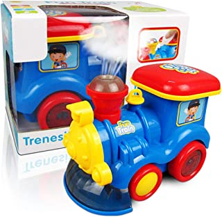 yeesport Bubble Toy Train Fun Bubble Blowing Toy Music Train Toy Bubble Bump Train Bump and Go Toy Car Toy Train with Sound