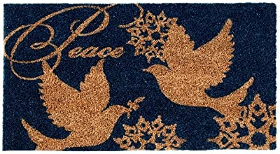 Shiraleah Blue Peace Door Mat