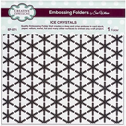 Sue Wilson EF-071 Embossing Folder 8 x 8 - Ice Crystals by Creative Expressions