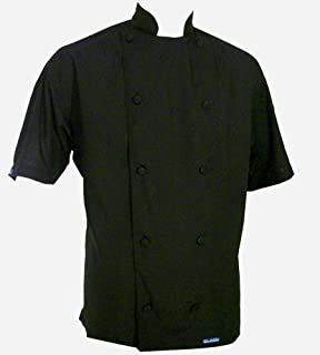 CHEFSKIN SM 44 Black Small Chef Jacket Lightweight