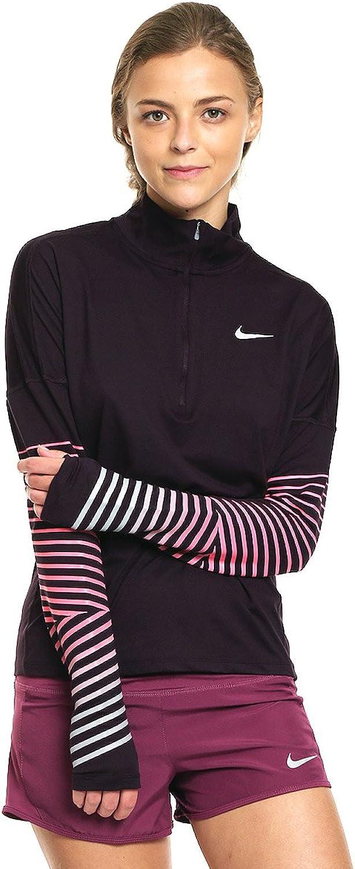 Nike Women's Dry Flsh Elmnt Hz Long Sleeve Top