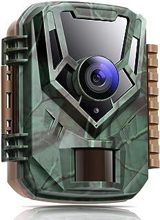 K&F Concept Mini Cámara de Caza 16MP 1080P Full HD Cámara Impermeable de Vigilància Nocturna Trail Cámara con Detector de ...