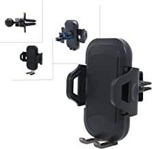 Phone Holder for car, Air Vent Phone Holder with Adjustable Clamp Switch Lock, Compatible with iPhone Xs/XS MAX/XR/X 8/8 Plus/7, Note 9/8/S8/S8 Edge/S7 (Leather Texture)