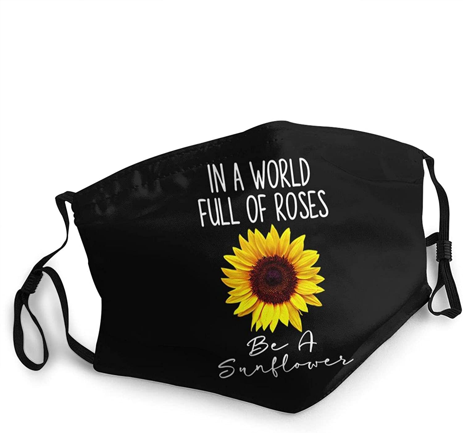 in A World Full of Roses Be A Sunflower Face Mask,Men's Women's Outdoor Reusable and Washable Adjustable Balaclavas