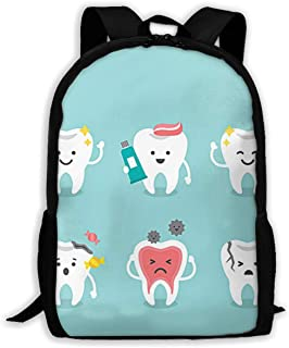 Gfduyfgh Cartoon Funny Teeth Cute Backpack Suitable for Junior High School Girls Boys Animal Bag Printing Shoulder Bag