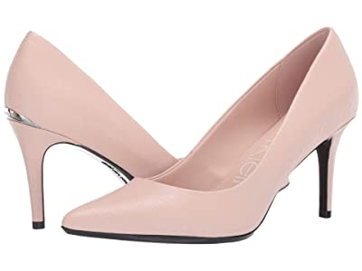 Calvin Klein Gayle Pump (Sheer Satin) High Heels