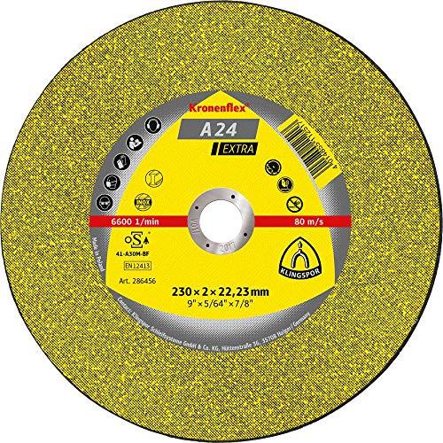 Kronenflex 188463 A 24 Extra Disque à tronçonner convexe, 125 x 25 mm, Jaune