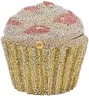 Bag for Women Fashion Metal Diamond Dinner Package Cake Drill Bag Banquet Bag Clutch Bag Evening Bag 10 * 10cm (Color : E)