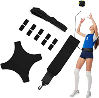 Volleyball Training Aid Soccer Practice Trainer with Adjustable Belt for Serving Setting Spiking Training, Volleyball Trai...