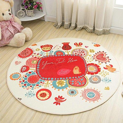 Good thing tapis Tapis rond de chaise d'ordinateur de tapis de bande dessinée antidérapante, tapis de tente de tapis de panier, tapis de chevet vert lavable (taille : Diameter 140cm)