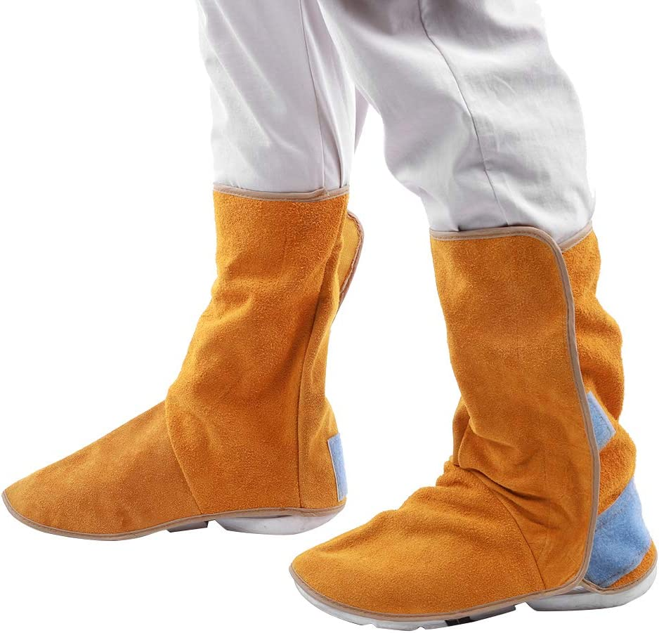1Pair Cowhide Bombing new work ! Super beauty product restock quality top! Heat Resistant Welding Boot Flame-Retardant Cover