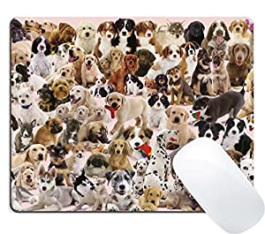 Mouse pad full of dogs