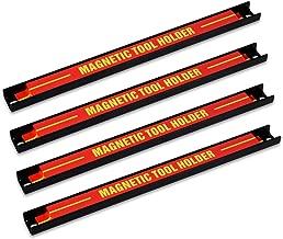 Navaris 4x barre magnétique pour outils - Baguette aimantée accroche murale divers outils - Rangement outillage maison garage atelier 30 x 2,3 cm