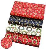 Bprtcra Weihnachten Muster Baumwollstoff, Stueck Muster