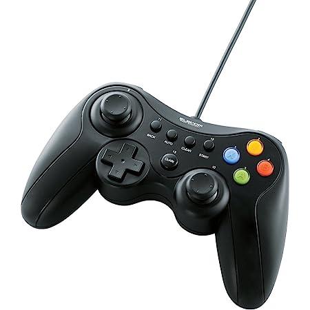 エレコム ゲームパッド USB接続 Xinput/DirectInput両対応 Xbox系12ボタン振動/連射 【ドラゴンクエストX 眠れる勇者と導きの盟友 推奨】 ブラック JC-U3613MBK