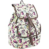 Eastsport Ultra Fashionable Printed Girls Backpack (Butterfly Print)