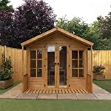 Premium T&G Summerhouse with 3 Doors Size: 227 cm H x 244 cm W x 252 cm D