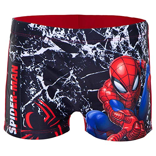 Characters Cartoons Spiderman Marvel Avengers – Maillot de bain pour enfant – Short de bain pour la plage et la piscine – Printemps été – Licence officielle - Rouge - 6 ans