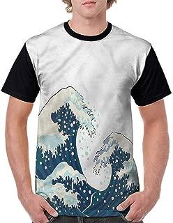 Cotton T-Shirt,Japanese Motif Vintage Design Fashion Personality Customization