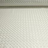 Stoff PVC Kunstleder Raute perlmutt glänzend Pyramide