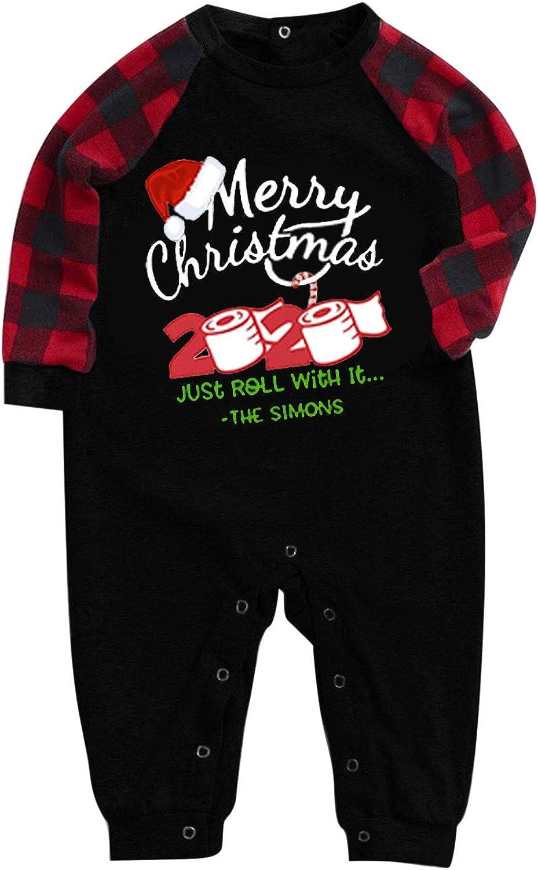 URIBAKE Matching Now free shipping Family Pajamas Alternative dealer Sets Christmas Sl PJ's with Long