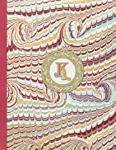 Monogrammed K 2018 Diary Monthly & Weekly Planner: 12 months 130 pages with Contacts - Password – Birthday lists & spare Note pages 8.5 x 11 (Letter K ... page with room for extra notes and trackers)