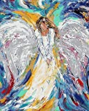 Paint by Number Kits - Colorful Angel 16x20 Inch Linen Canvas Paintworks - Digital Oil Painting Canvas Kits for Adults Children Kids Decorations Gifts (with Frame)