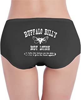 Buffalo Bill's Body Lotion Women's Cotton Briefs Funny Pattern Breathable Low Waist Stretch Panties