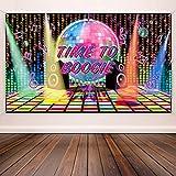 70 Jahre Thema Party Dekorationen Disco Hintergrund Banner