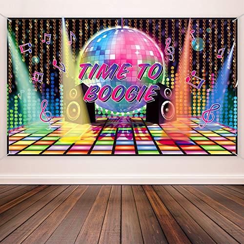 70 Jahre Thema Party Dekorationen Disco Hintergrund Banner 70 Jahre Szene Setter Wand Dekoration für Disco Geburtstag Party Lieferungen, 72,8 x 43,3 Zoll