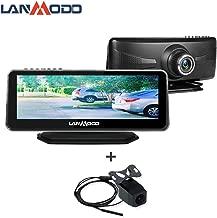 LANMODO Car Night Vision Front and Rear Dual Camera,Waterproof 8.2