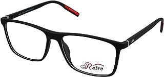RETRO Unisex-adult Spectacle Frames Square 5501 M.Black/Red