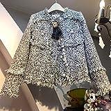 Vintage Wool Tweed Chaquetas Mujer Plaid Tassel Recortada Bomber Chaqueta Abrigo Otoño Outwear Outwear Elegante Harajuku Pearls Bow
