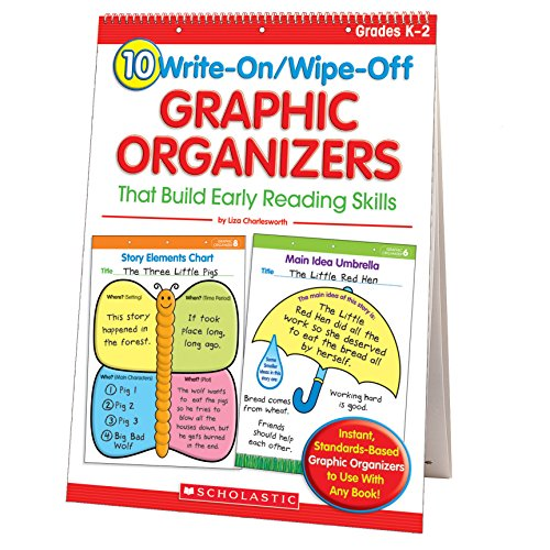 10 Write-On/Wipe-Off Graphic Organizers That Build Early Reading Skills (Flip Chart)