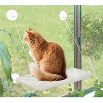 Cuby Cat Window Hammock Cat Bed Cat Hammock Cat Window Perch Sunny Seat Suction Cups Pet Resting Seat Space Saving Hammock Bed Safety Sunbath for Cats