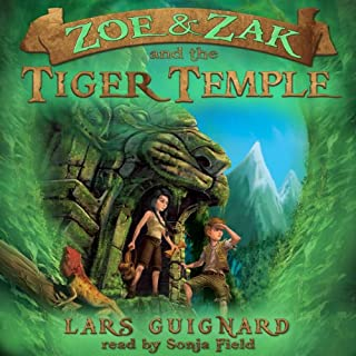Zoe & Zak and the Tiger Temple audiobook cover art