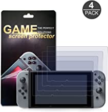 (4-Pack) Nintendo Switch Screen Protector, Akwox HD Film Solid Premium Screen Protectors Super Tough Screen Protective Filter for Nintendo Switch 2017