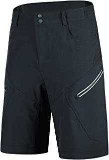 Souke Sports Mens Mountain Bike Biking Shorts Breathable Stretch MTB Shorts Loose Fit Cycling Baggy Pants with Zip Pockets